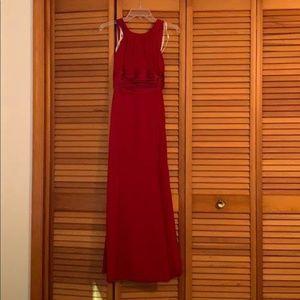 David's Bridal Bridesmaid Dress, Apple Red, Size 2